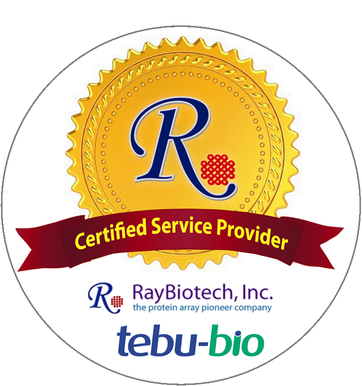 tebu-bio is a Certified Services Provide for RayBiotech ELISA tests and arrays (incl. Quantibody array).