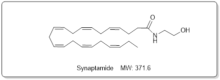 Synaptamide is an anandamide-like mediator biosynthesized from docosahexaenoic acid (DHA) in the brain (Focus Biomolecules at tebu-bio)