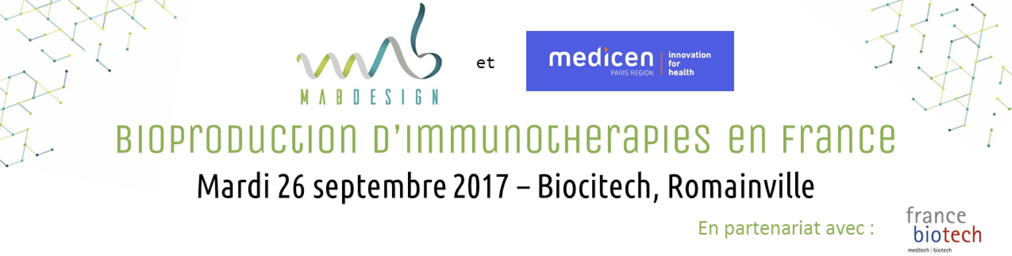 tebu-bio will be at Bioproduction d'Immunothérapies en France - MabDesign & Medicen